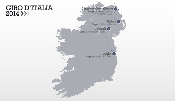 Giro D'Italia Itinerary Map