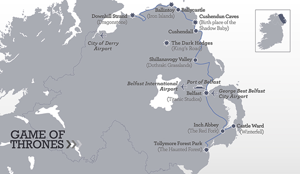 Game of Thrones Itinerary Map