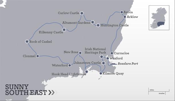 Itin 233 Raire Dans Le Sud Est 5 Jours Ireland Com