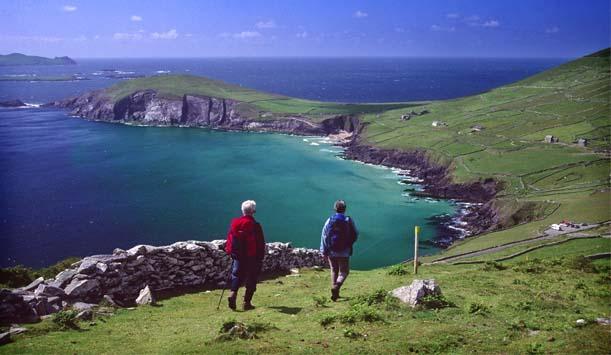 Wandern auf der Dingle Halbinsel in der Grafschaft Kerry