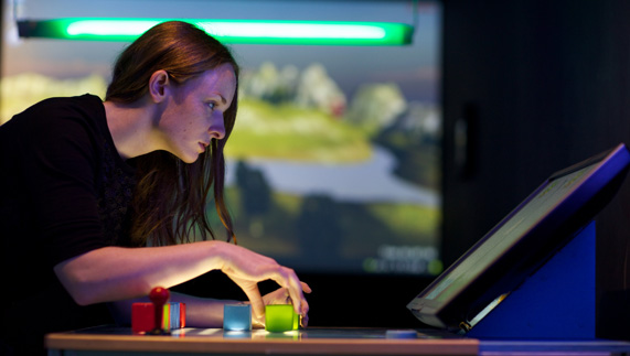 Interactive exhibits at the Dublin Science Gallery
