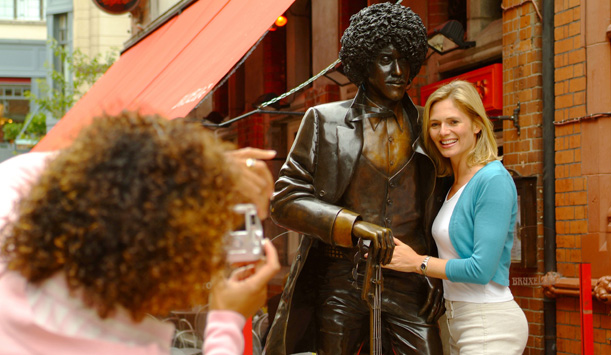 The Phil Lynott statue, Dublin City