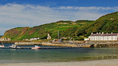 The harbour at Rathlin Island