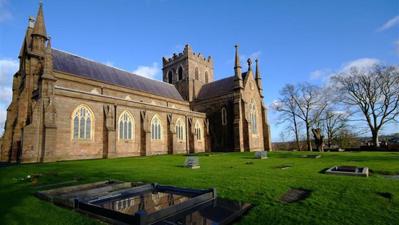 St Patrick's COI Cathedral in Armagh: said to house the remains of Brian Boru