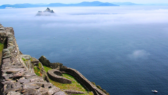 Skellig Michael where Olaf Tryggvason is said to have been baptised