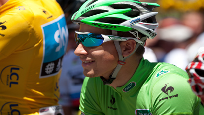 "One of cycling's great sprinters Peter Sagan aangeboden door <a href=""http://www.shutterstock.com/gallery-160531p1.html"" >Alain Lauga</a>"