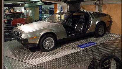 "The De Lorean at the Ulster Folk and Transport Museum provided by <a href=""http://www.flickr.com/photos/51899361@N04/"" >Nigel Pluck</a>"