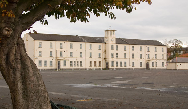 "The Clock Tower at Ebrington Square provided by <a href=""http://www.inpresspics.com/"" >Martin McKeown</a>"