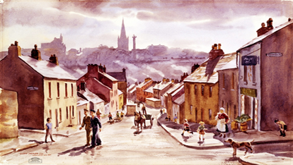 Dwight Shepler watercolour of Bogside provided by US Navy Art Collection