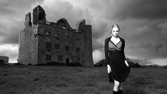 "Standing in front of a ruin, County Clare provided by <a href=""http://www.stefanoferroni.com/home/index.php?/fashion/10/"" >Stefano Ferroni</a>"