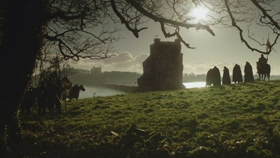 "The Twins, the Riverlands, where Catelyn negotiates with the bitter Lord Frey (Audley's Field, Castle Ward, County Down) provided by <a href=""http://www.hbo.com/game-of-thrones"" >© HBO</a>"