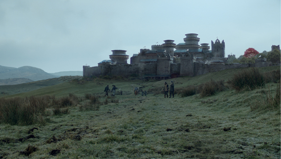 "Winterfell, the ancestral seat of House Stark (Cairncastle, County Antrim) provided by <a href=""http://www.hbo.com/game-of-thrones"" >© HBO</a>"