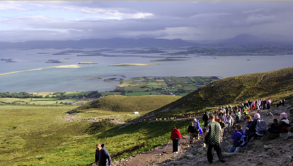 A view of Clew Bay from Croagh Patrick