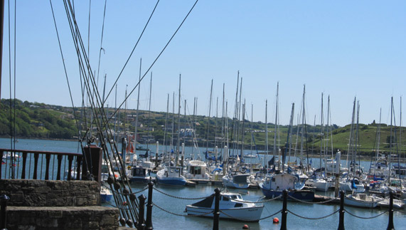 Boats bobbing in the harbour, Kinsale County Cork