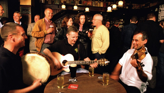 A lively trad session