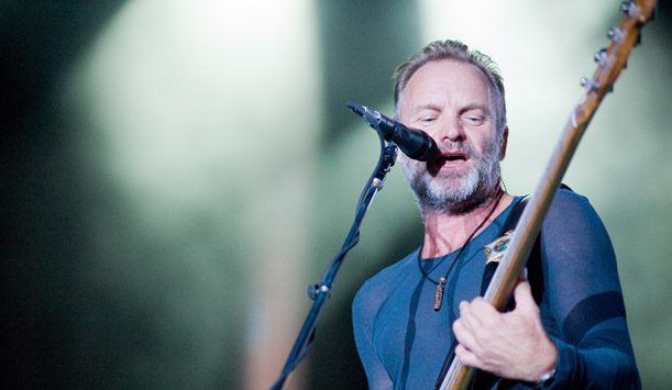 "The man, the legend: Sting provided by <a href=""http://www.shutterstock.com/gallery-91466p1.html"" >Randy Miramontez</a>"