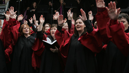 Choir performing at Dublin Handel Festival