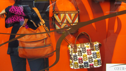 The Orla Kiely window display, Kilkenny store, Nassau Street, Dublin city
