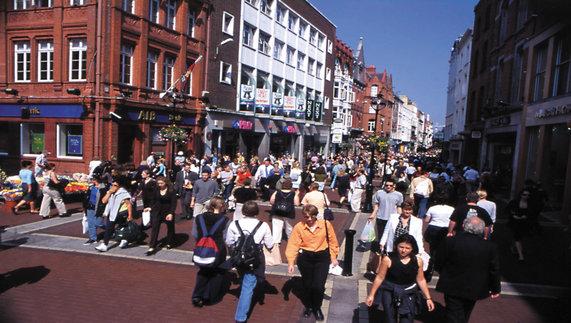 A busy Grafton Street, Dublin
