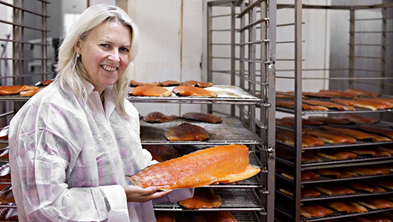 Brigitta Hedin Curtin, owner of the Burren Smokehouse