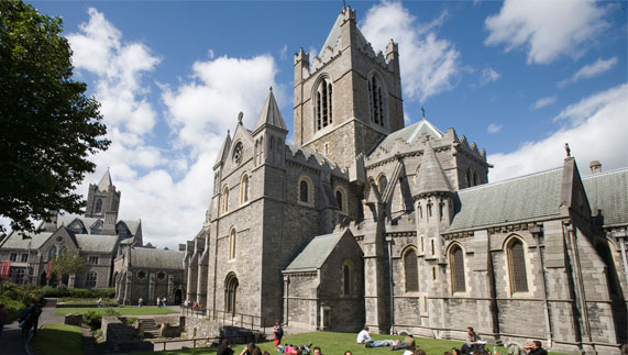 Christ Church Cathedral, Dublin city. The Fagan's made generous donations towards its renovations.