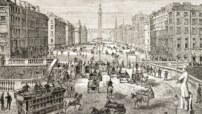 O'Connell Street circa 1900, Dublin city