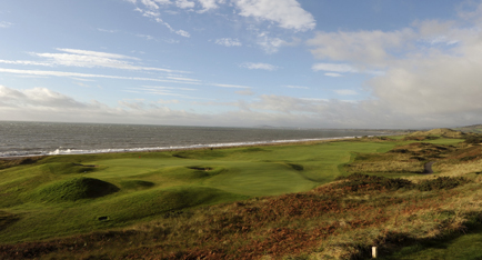 The par 5 thirteenth at The European Club. Image courtesy of Pat Ruddy.