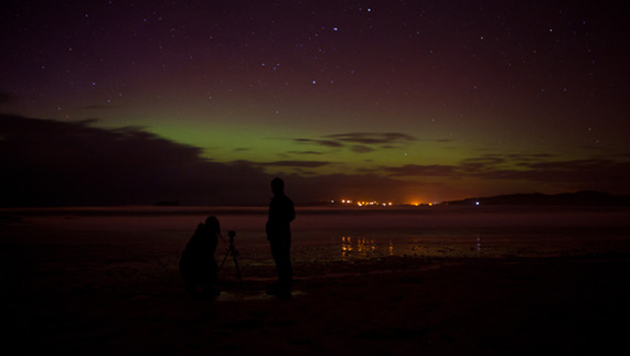 Preparing to capture the Northern Lights