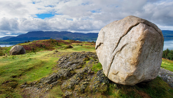 The Cloughmore Stone, a 40-ton granite boulder