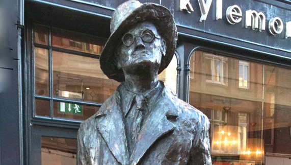James Joyce Statue in Dublin City Centre