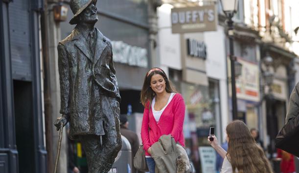 James Joyce statue in Dublin City