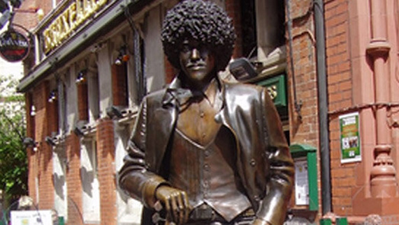 Phil Lynott Statue in Dublin City Centre