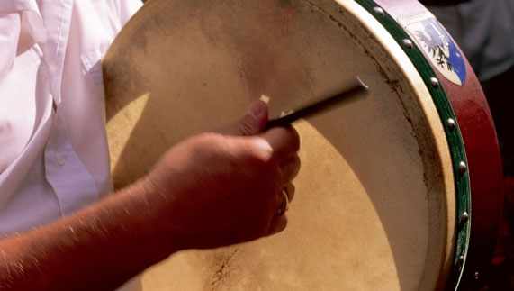 A traditional bodhrán