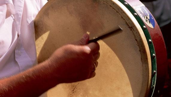 A traditional bodhrán