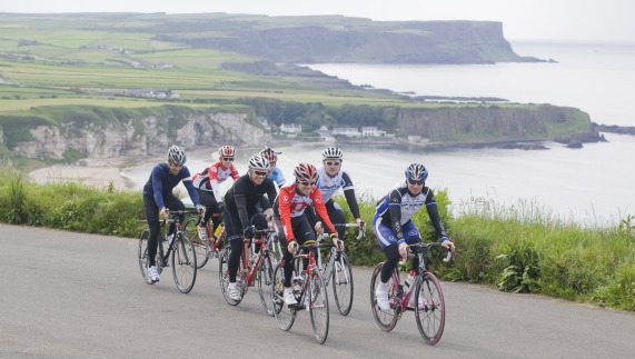 Cycling on the north Antrim coast
