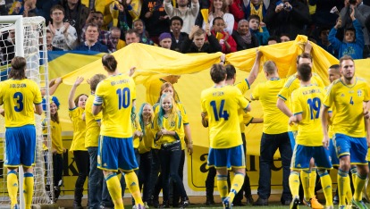 "The Swedish team meet their fans provided by <a href=""http://svenskfotboll.se/"" >Svensk Fotboll</a>"
