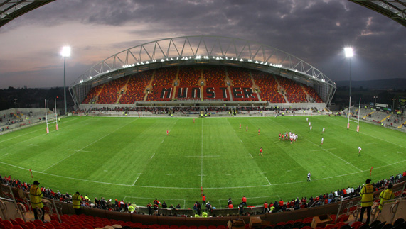 Home of Munster rugby, Thomond Park, Limerick city