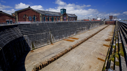 The Thompson Dry Dock at Harland and Wolff shipyards, Belfast