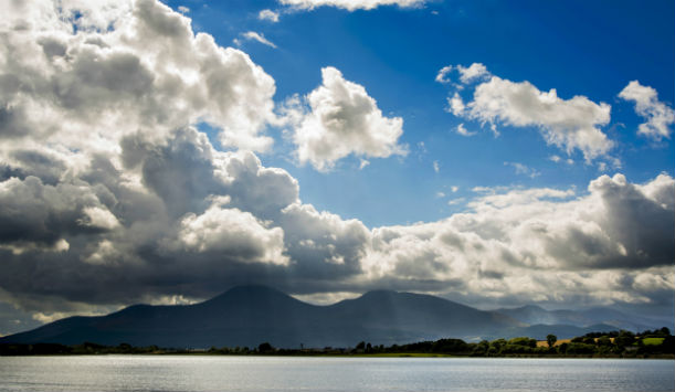 Mourne Mountains by the sea