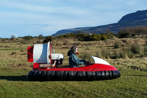 Thrilling Hovercraft Flying Experience at Foylehov Activity Centre for 40 per person
