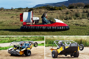 Unique driving experience Hovercrafts  Powerturn Buggies for 6650pp at Foylehov Activity Centre