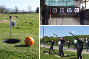 Shoot it out at Archery Laser Clay Shooting Football Golf for 2350pp at Foylehov Activity Centre