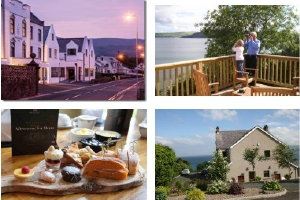 3 nights self-catering Largy Coastal Apartments and a GOT afternoon tea Ballygally Castle Hotel