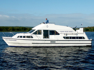 Cruise Irelands waterways for 4 nights on-board a 24 berth Cruiser