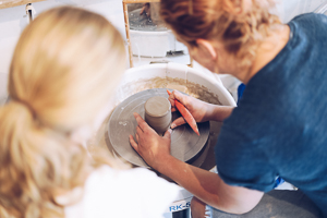 Saturday pottery workshop at the Arran Street East studio in Dublin
