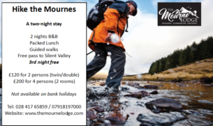 Hike The Mournes - 120 for 2 persons 200 for 4 persons