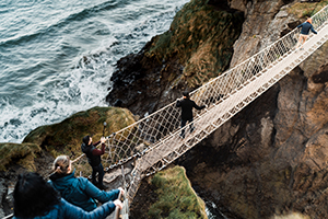 For a thrilling Causeway Coast autumn experience take the rope bridge challenge at CarrickaRede