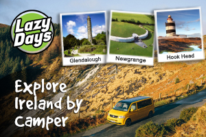Explore Irelands Ancient East in a Lazy Days VW Camper over 3 nights from 300