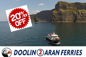 Save 20 on all Boat Trips with Doolin2Aran Ferries