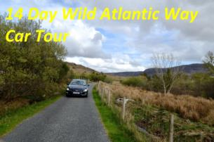 14 Day Wild Atlantic Way Car Tour for 4 People